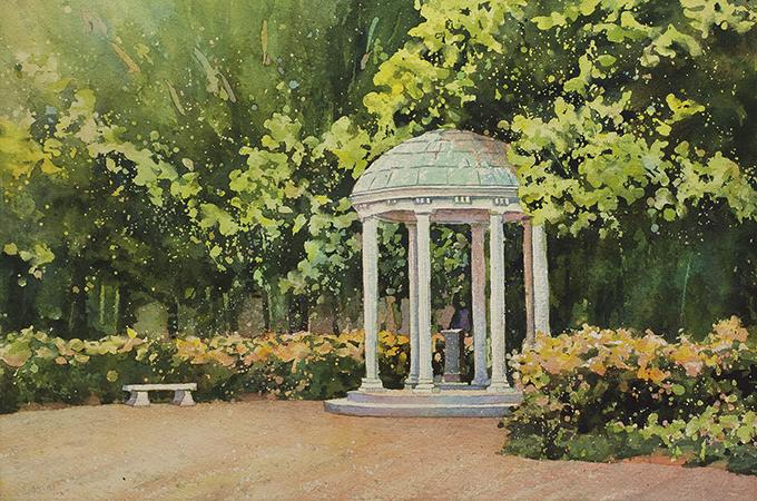 The Old Well UNC Chapel Hill Fine Art Print
